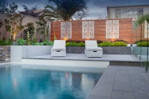 Landscaped pool area - stunnong effect