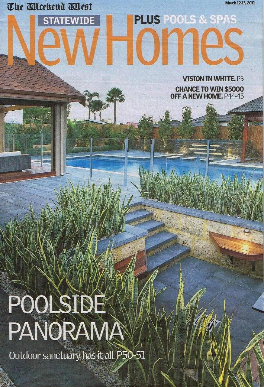 details new homes magazine cover features pool landscaping portfolio project - New Home Magazines