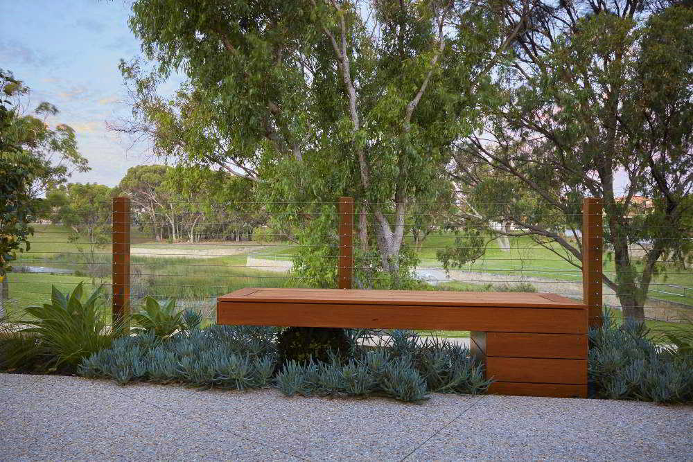 Custom garden seating