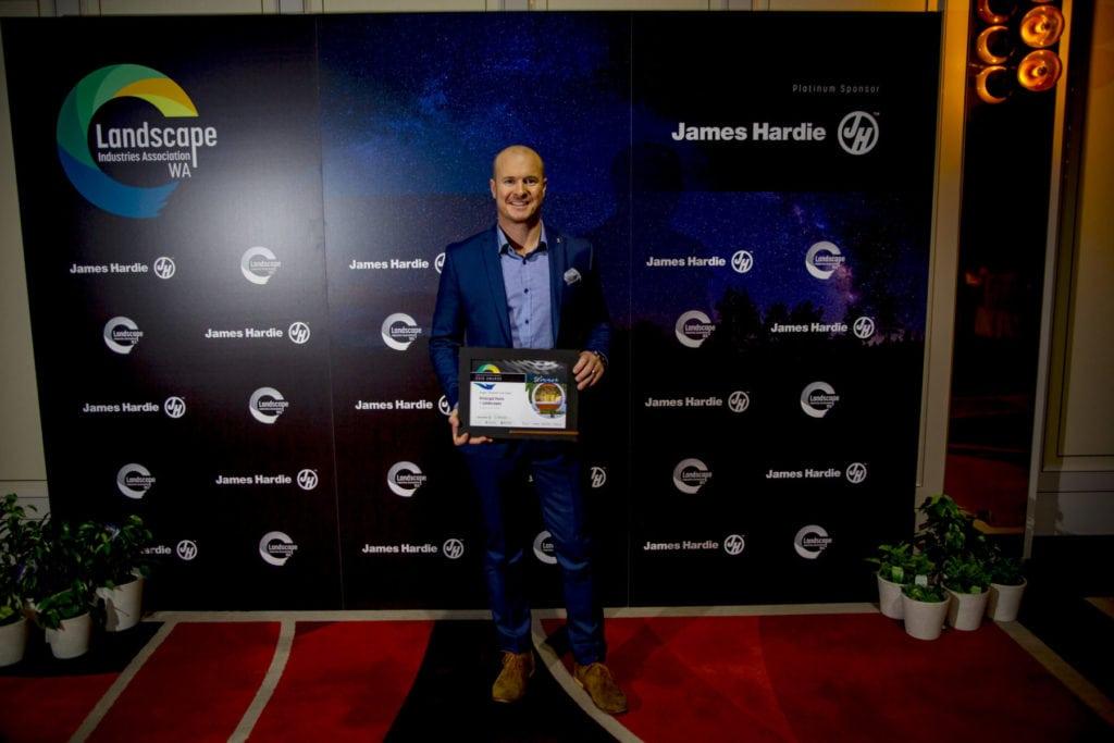 Cullen Long accepting award